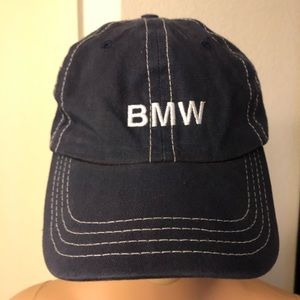VINTAGE BMW LIFESTYLE EMBROIDERED CAP BLUE DAD HAT